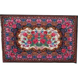 Kilim rug with flower pattern - 1970s