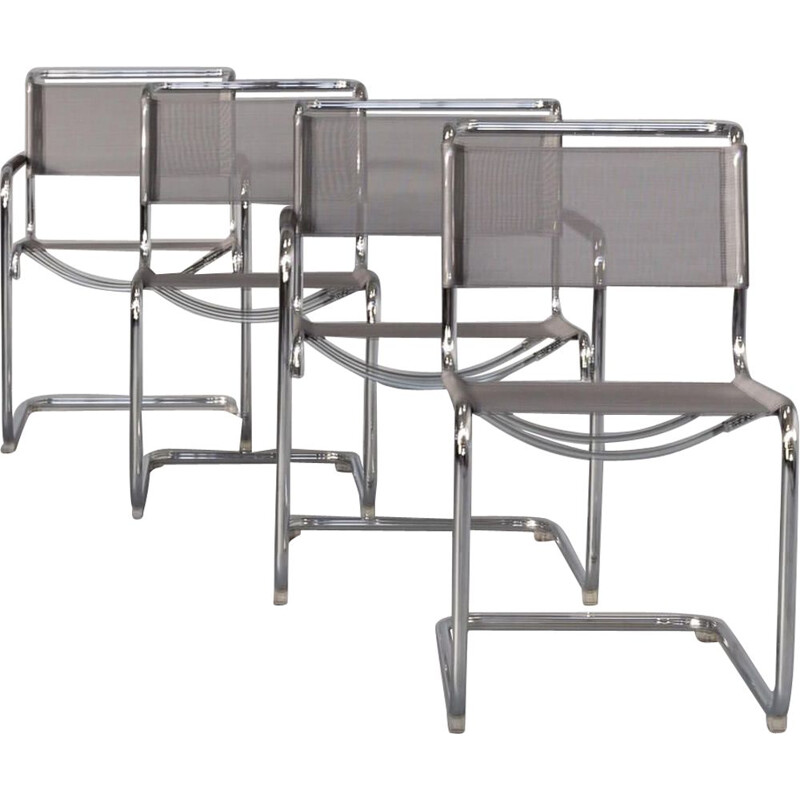 Set of 4 vintage S34 cantilever chairs by Mart Stam & Marcel Breuer for Thonet, 1920