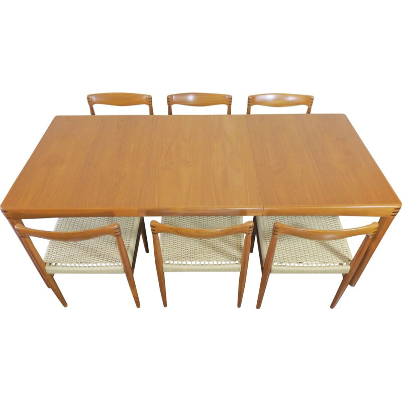 Mid century dining set by H.W. Klein for Bramin
