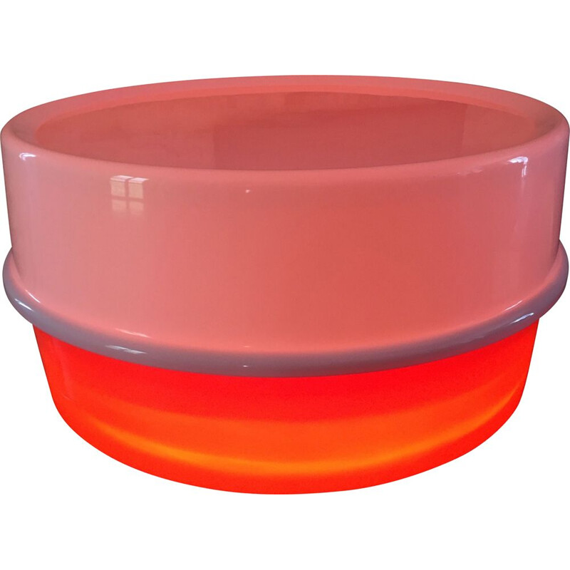 """""""Ilumesa"""" vintage two-tone lighted coffee table by Verner Panton for Poulsen"""
