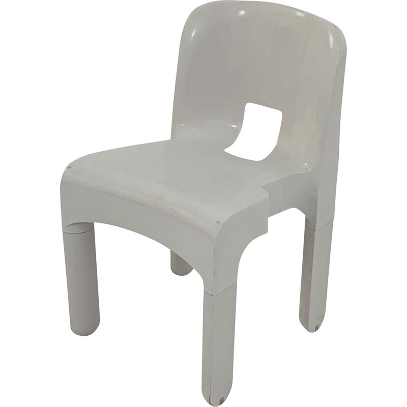 Vintage white model 4867 Universale chair by Joe Colombo for Kartell, 1970s