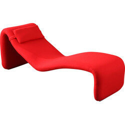 "Red Airborne ""Djinn"" chaise longue in fabric and foam, Olivier MOURGUE - 1960s"