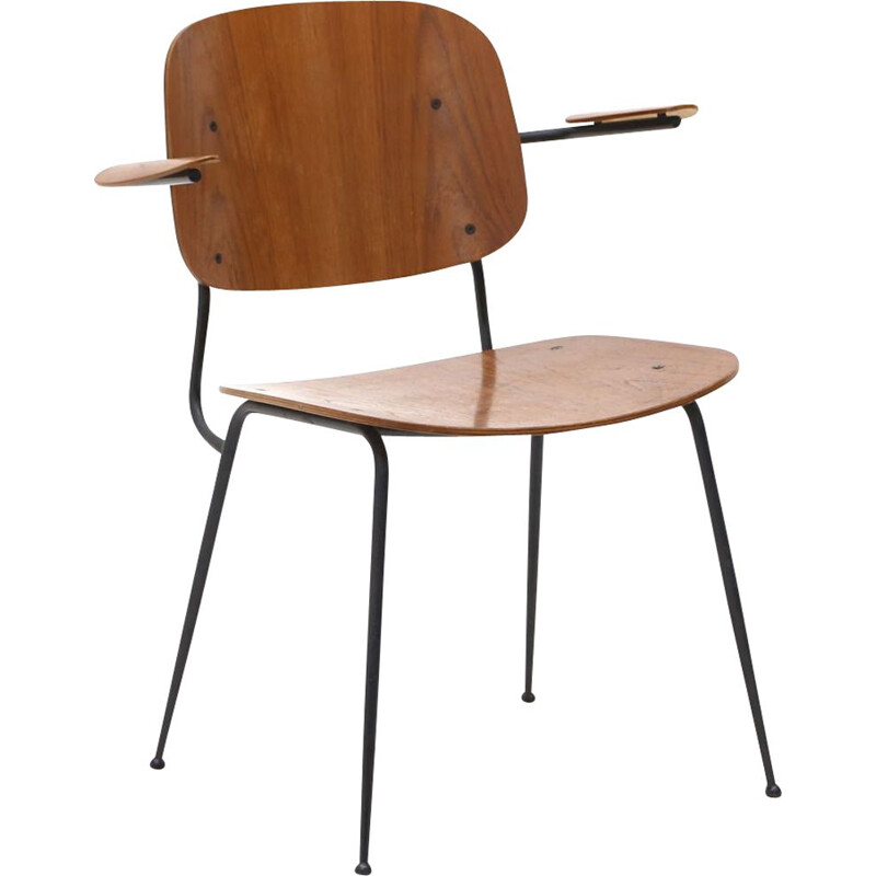 Mid century Soborg chair with armrests by Børge Morgensen for Fredericia, 1950s