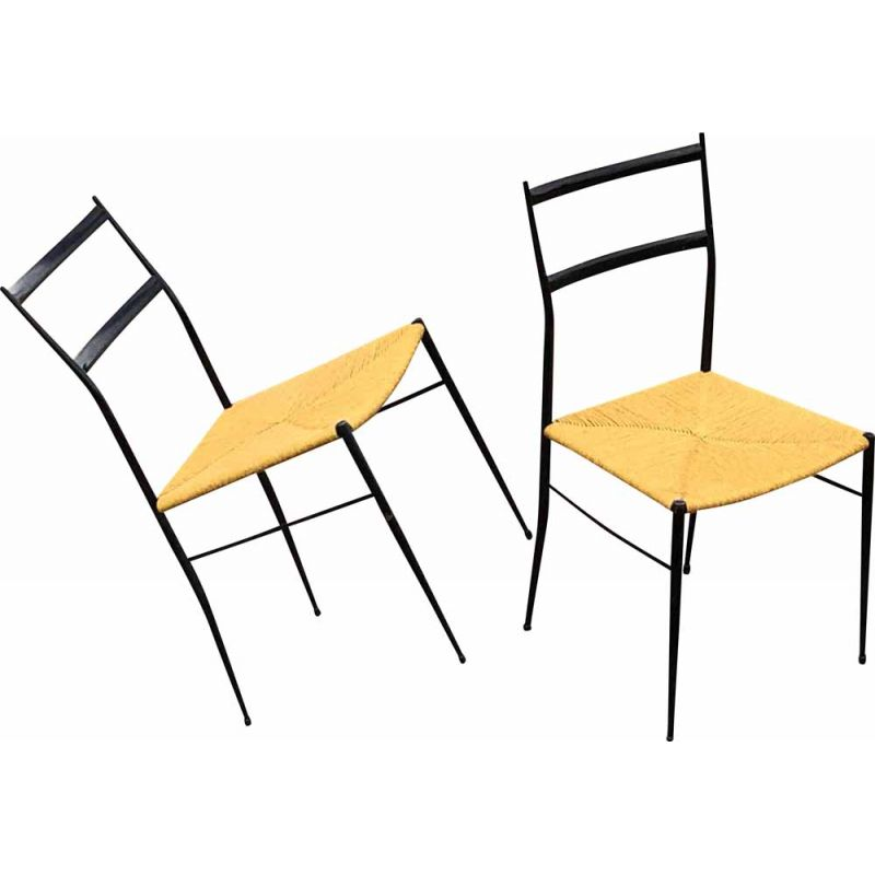 Pair of vintage chairs by Gio Ponti, 1960