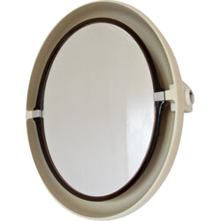Backlit oval mirror beige - 1970s