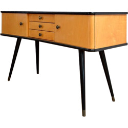 Mid-century console with compass feet - 1950s