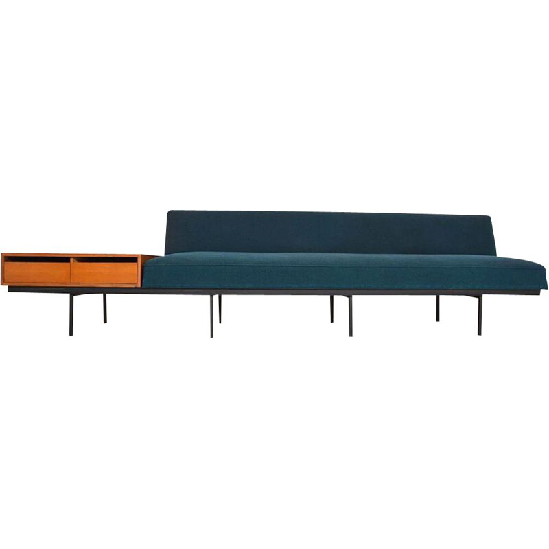 Vintage sofa with side table by Florence Knoll, 1960
