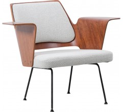 """Hille """"700"""" chair in grey wool, Robin DAY - 1950s"""