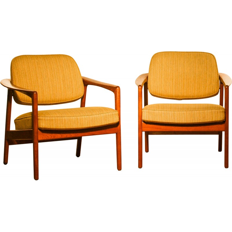 Pair of Dux lounge chairs Folke OHLSSON - 1960s  sc 1 st  Design Market & Pair of Dux lounge chairs Folke OHLSSON - 1960s - Design Market