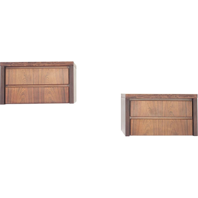 Set of two rosewood wall units danish design, Denmark 1960s