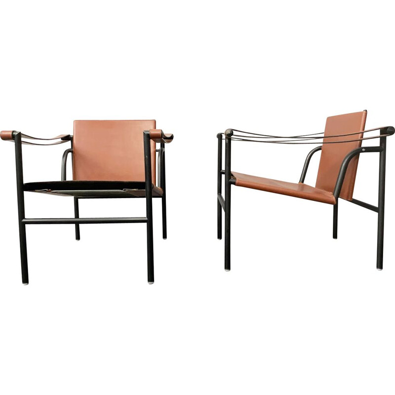 Vintage LC1 armchair by Le Corbusier, Pierre Jeanneret and Charlotte Perriand for Cassina, Italy 1970s