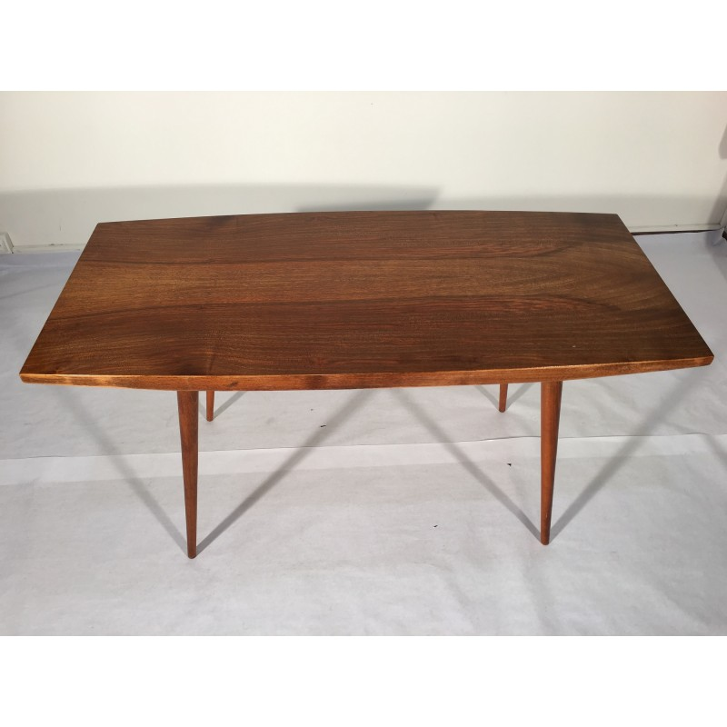 Delightful Mid Century Czech Coffee Table In Veneered Wood   1960s. Vintage Design  Furniture Pictures Gallery