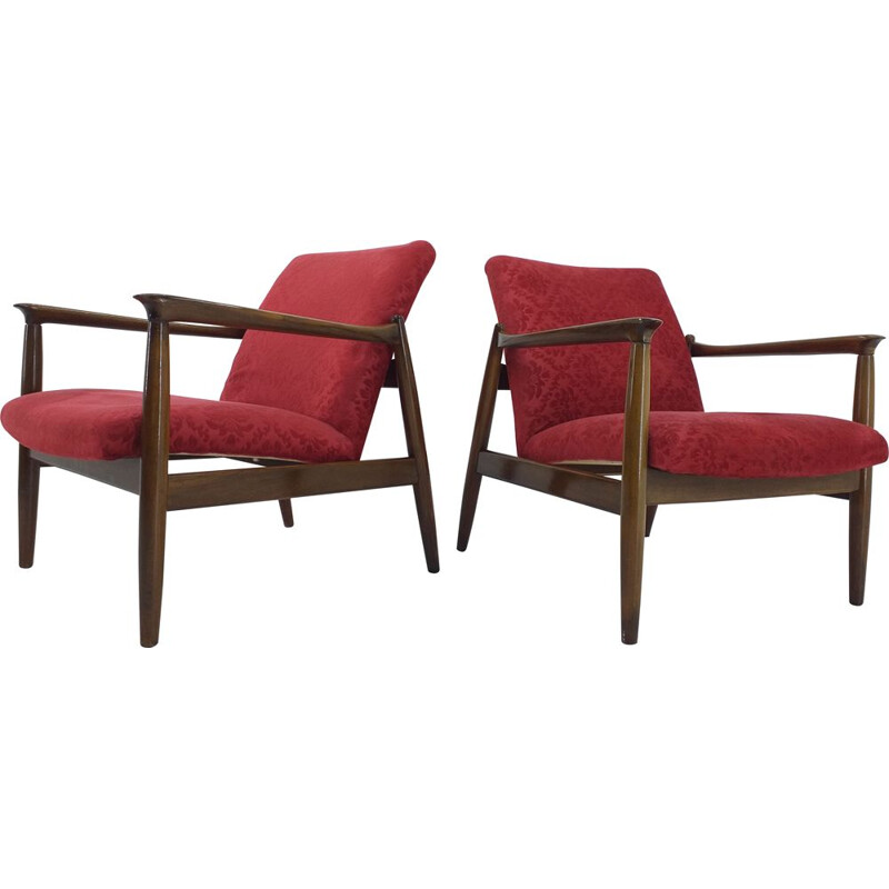 Pair of midcentury armchairs by Edmund Homa, 1960s