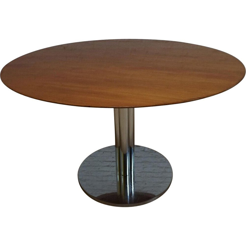 Mid-century modern round table by Florence for Knoll International Kiga S.p.A, 1960s