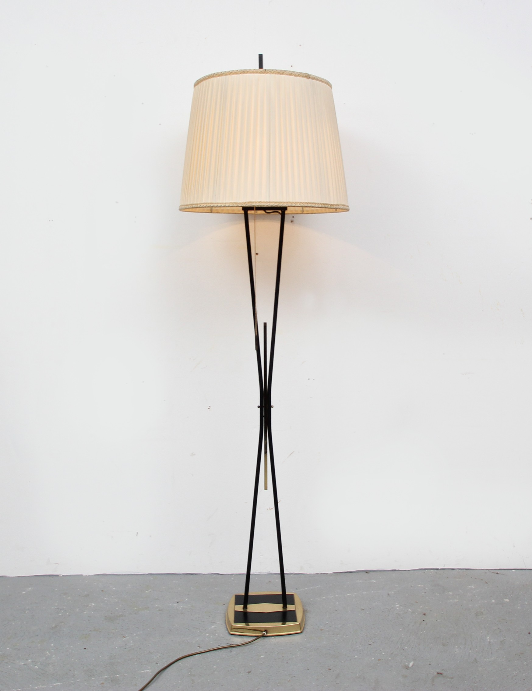 Big floor lamp with pliss lamp shade 1950s design market big floor lamp with pliss lamp shade 1950s previous next mozeypictures Image collections