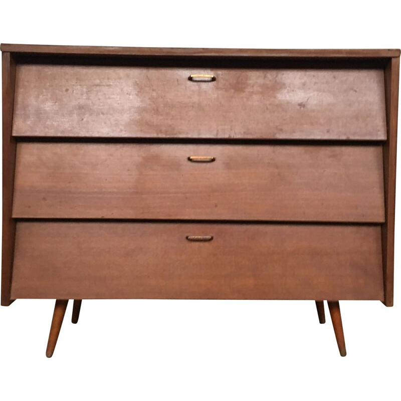 Vintage single colour chest of drawers, 1950