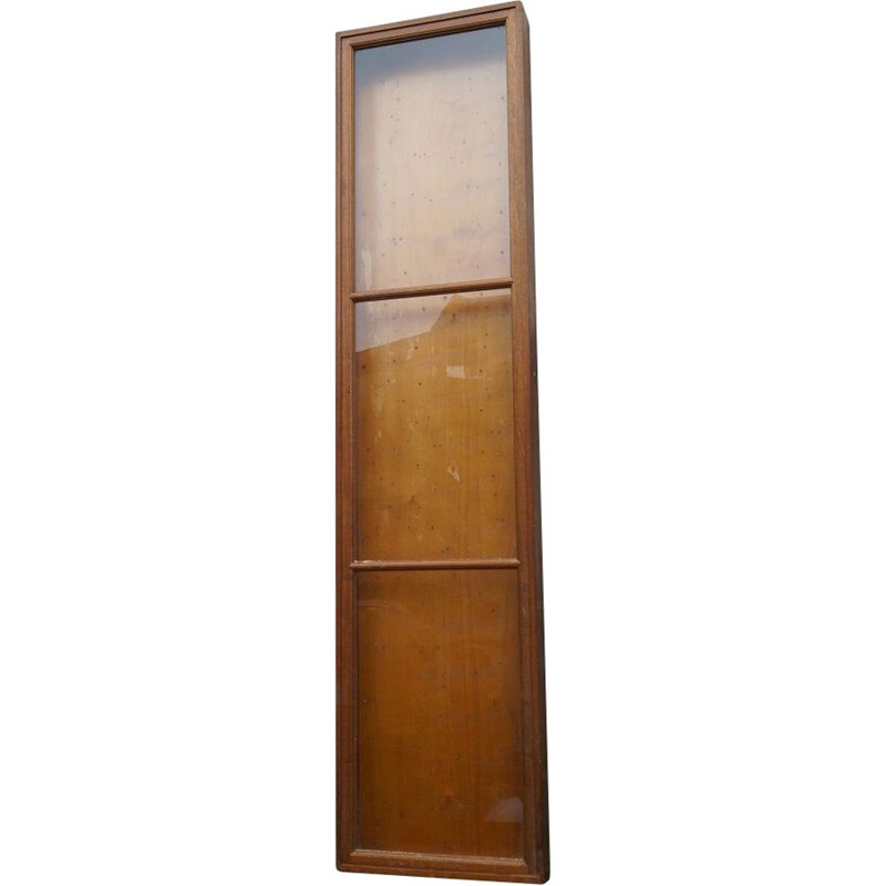 Large wood and glass vintage display cabinet, 1950