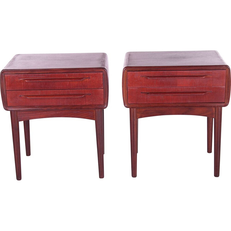 Pair of vintage night stands by Johannes Andersen for c.f.Silkeborg, Denmark 1960s
