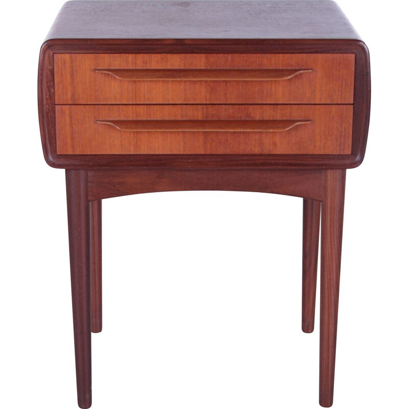 Danish vintage night stand by Johannes Andersen for c.f.Silkeborg, 1960