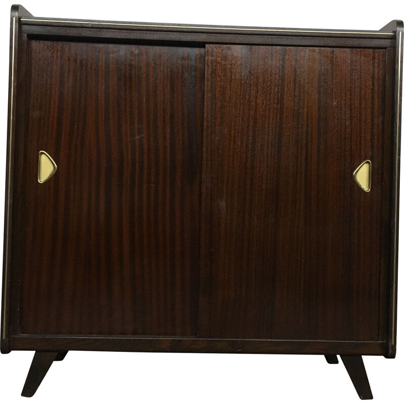Vintage shoe cabinet with compass legs, 1950-1960