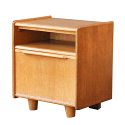 Small Dutch night stand in birch and formica, Cees BRAAKMAN - 1960s