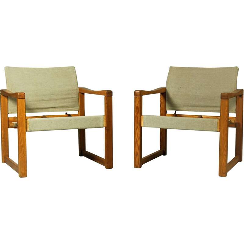 Pair of vintage model Diana armchairs by Karin Mobring for Ikea, Sweden 1970s