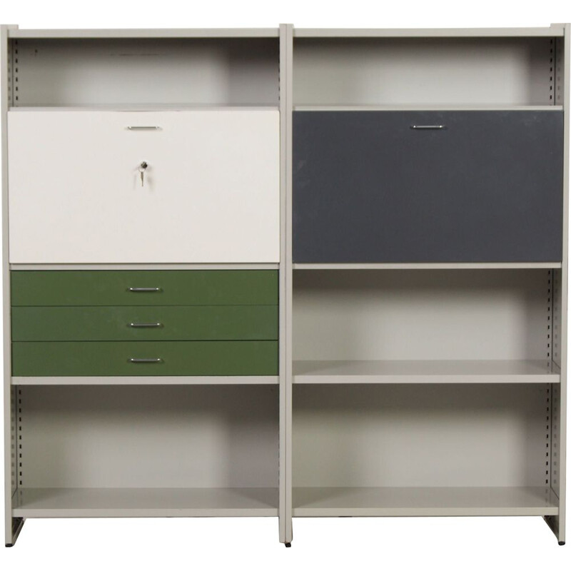 Vintage 5600 shelf with secretary by Andre Cordemeyer for Gispen, 1950s