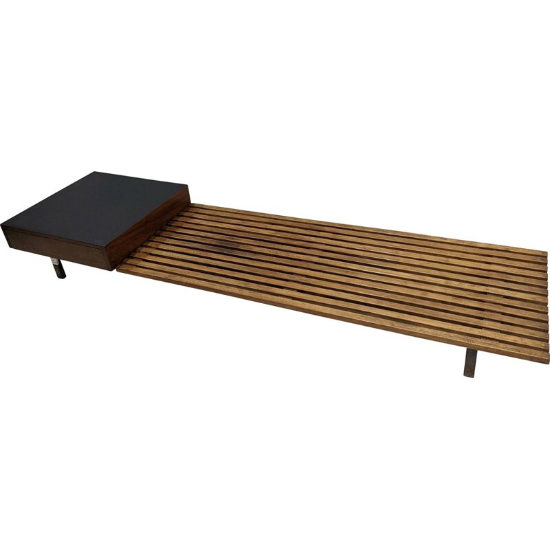 Vintage Cansado box bench by Charlotte Perriand for Steph Simon, 1954