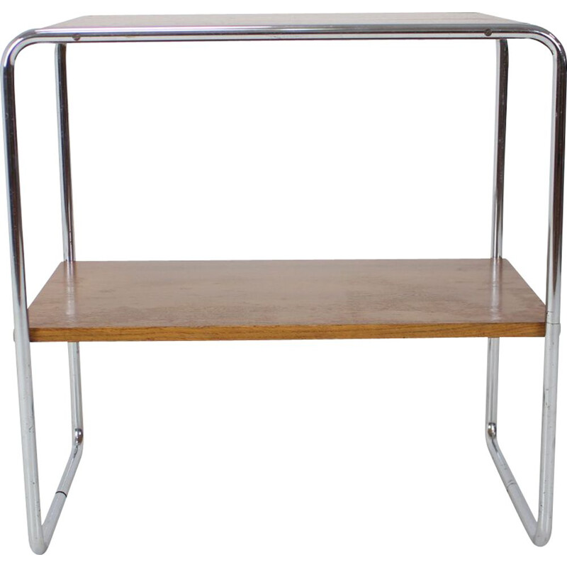 Vintage chrome and wood B12 console by Marcel Breuer, Czechoslovakia 1940s