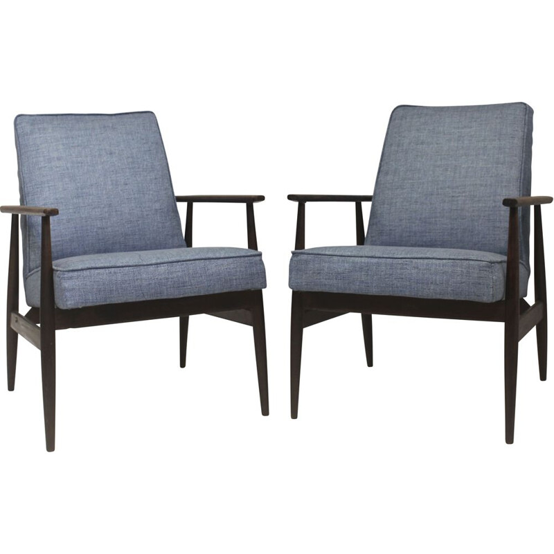 Pair of vintage armchairs by Henryk Lis, 1970