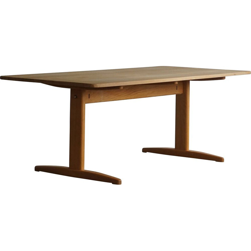 Mid century Danish solid oakwood table by Børge Mogensen for C.M Madsen Haarby, 1960s