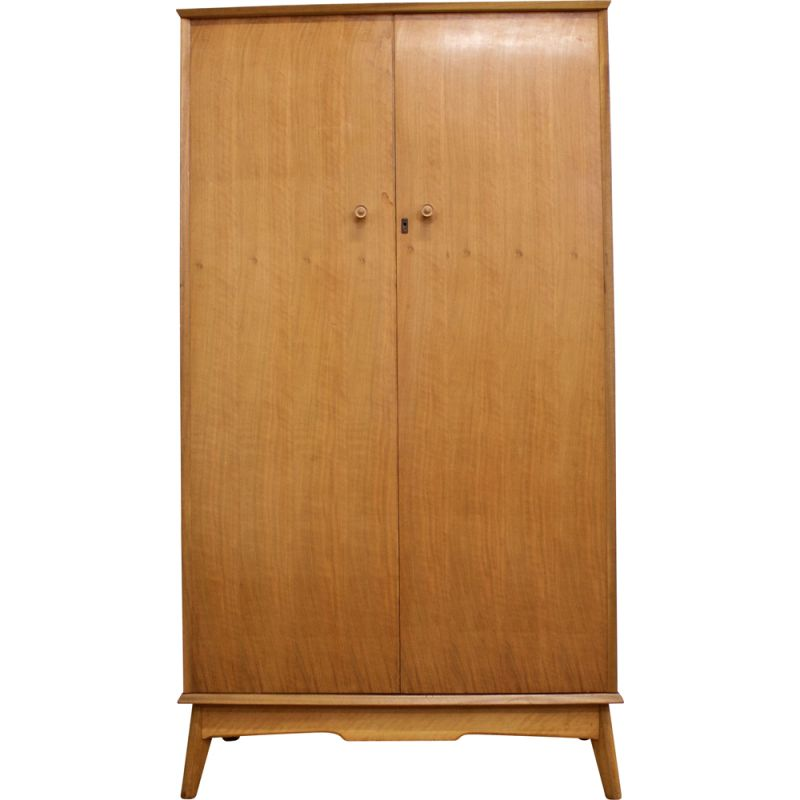 Vintage walnut cabinet by Alfred Cox for Heals, 1960s
