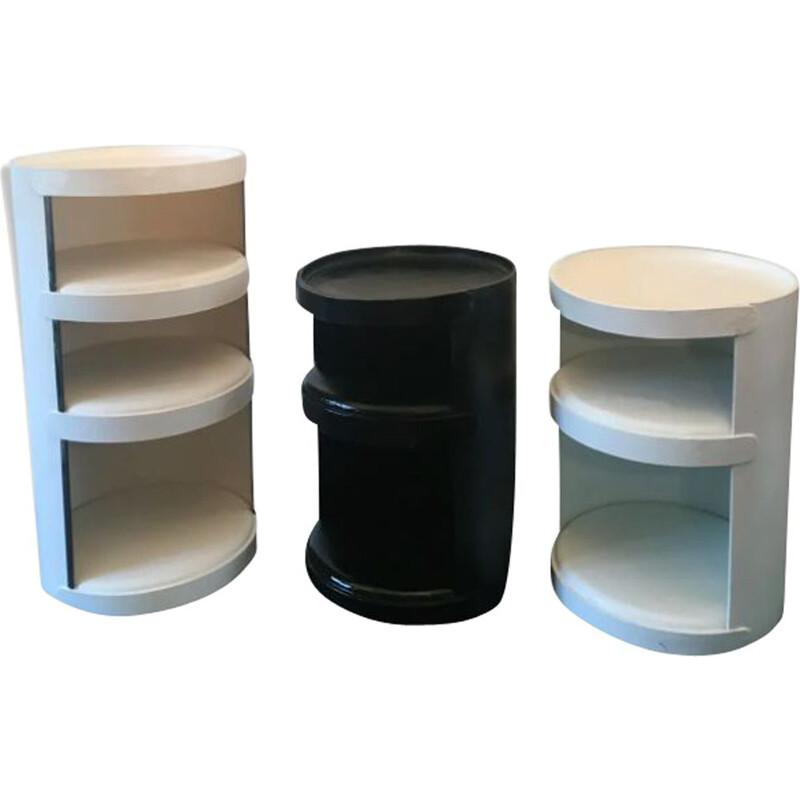 Set of 3 vintage thick celloderne cardboard shelves by Jean-Louis, 1960