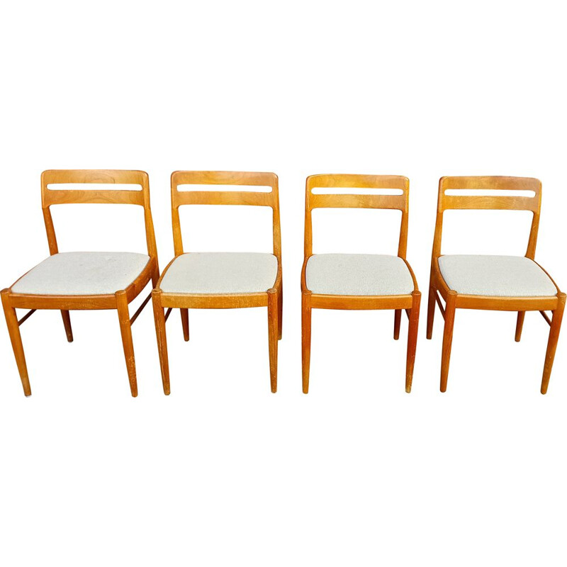Set of 4 vintage danish dining chairs in teak by H.W. Klein for Bramin