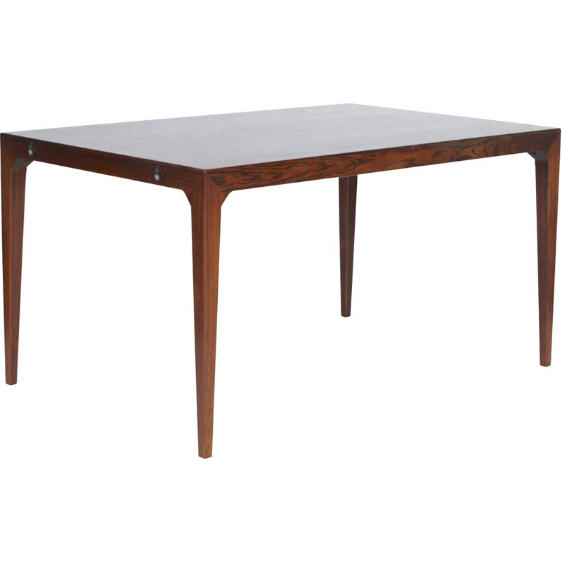 Danish rosewood vintage dining table by Poul Hundevad and Kai Winding for Hundevad & Co., 1950s