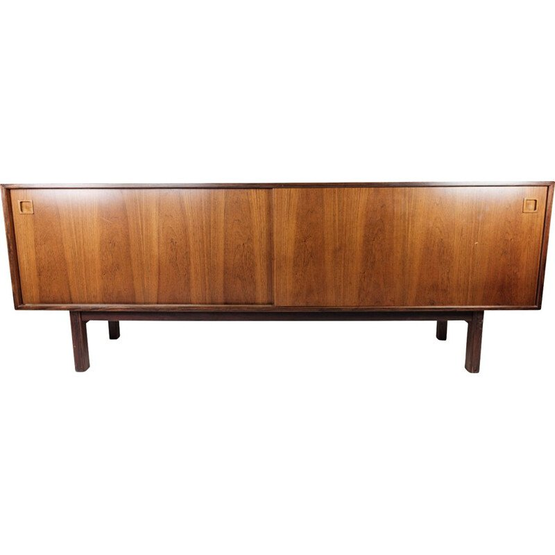 Mid century sideboard in rosewood with sliding doors by Omann Junior, 1960s
