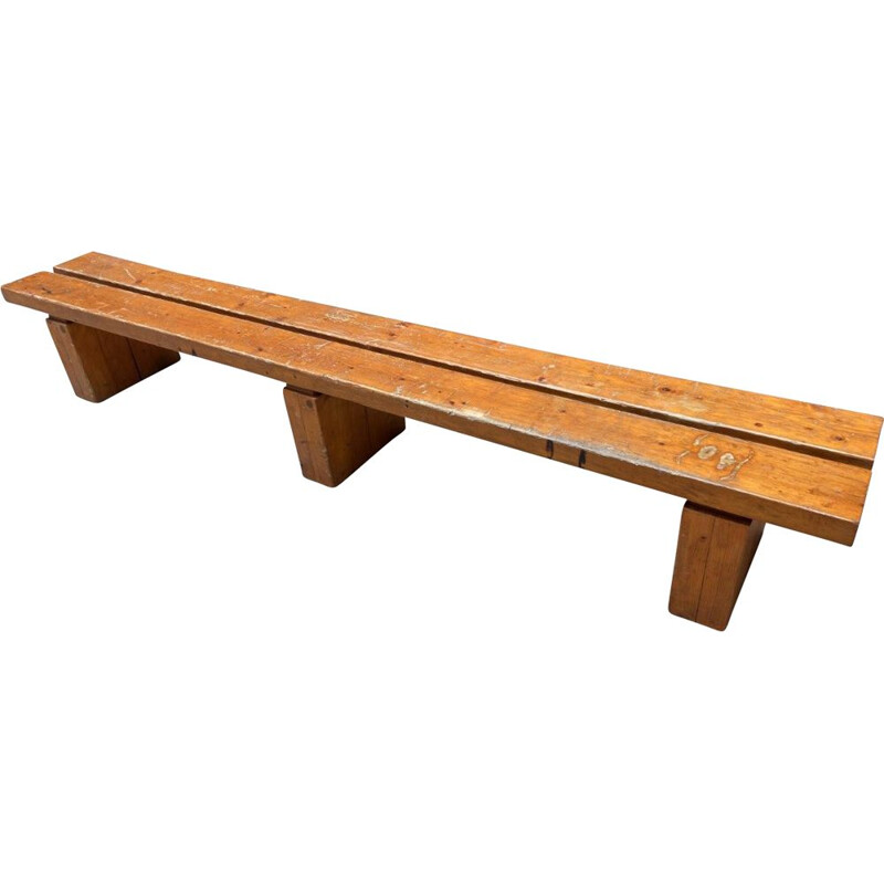 Vintage bench by Charlotte Perriand, 1947