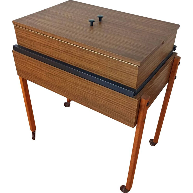 Mid century workbench with sliding compartments, 1960