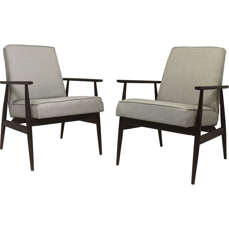 Pair of vintage armchairs 300-190 by Henryk Lis, 1970