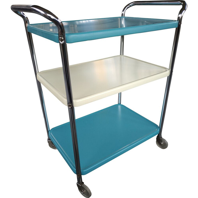 Vintage metal bar trolley by Cosco, USA 1960s