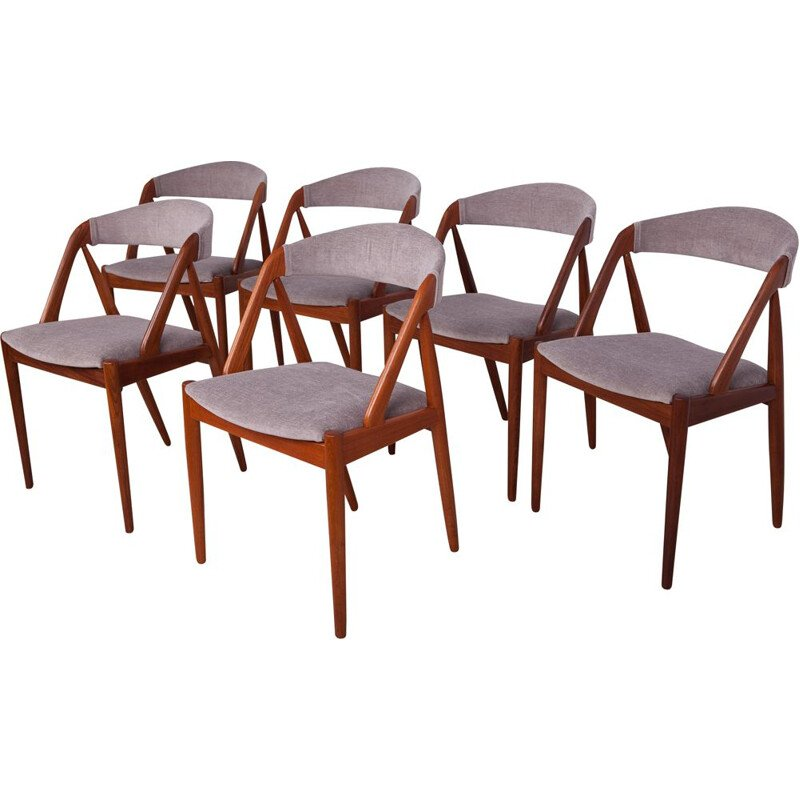 Set of 6 vintage model 31 dining chairs by Kai Kristiansen for Schou Andersen, 1960s
