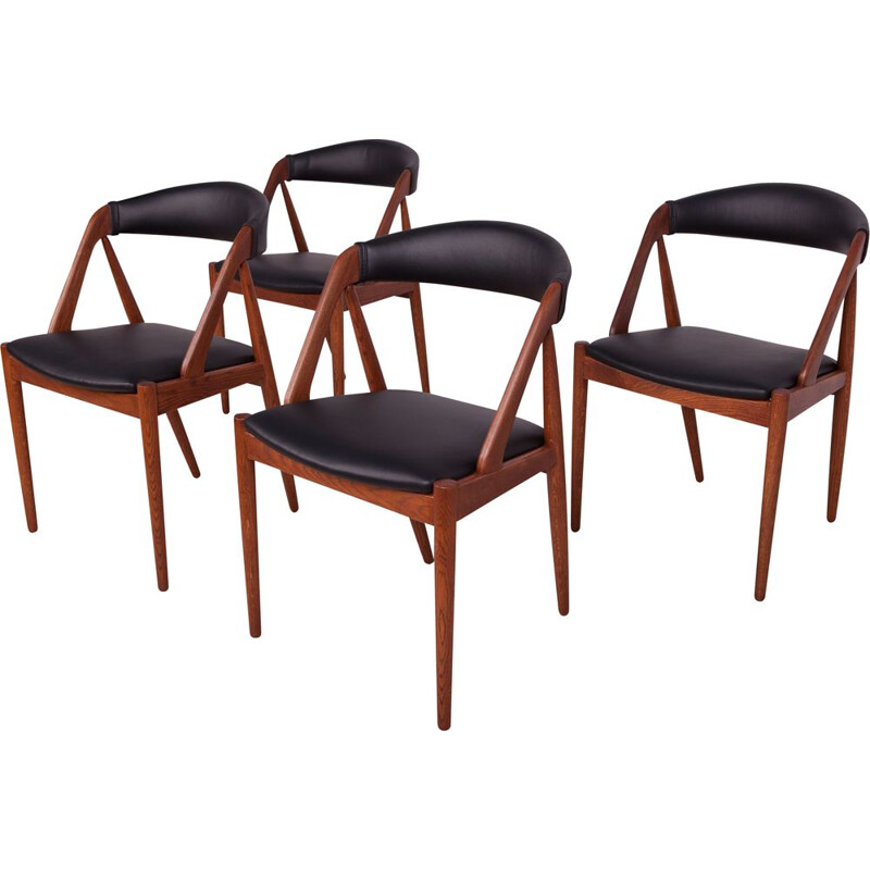 Set of 4 mid century model 31 dining chairs by Kai Kristiansen for Schou Andersen, 1960s