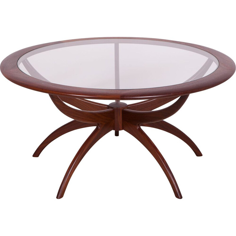 Vintage round spider coffee table by Victor Wilkins for G-Plan, 1960s