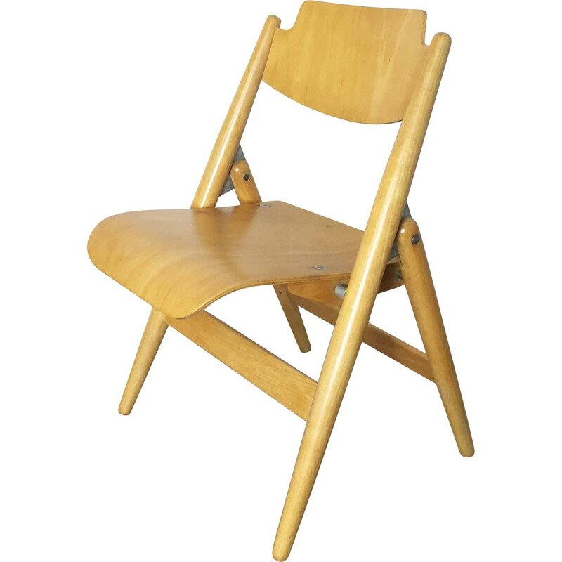 "Wilde & Spieth ""SE18"" chair for children in wood, Egon EIERMANN - 1960s"