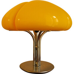 "Guzzini ""Quadrifoglio"" table lamp in canary yellow, Gae AULENTI - 1970s"