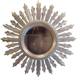 Sun shaped mirror in resin - 1950s