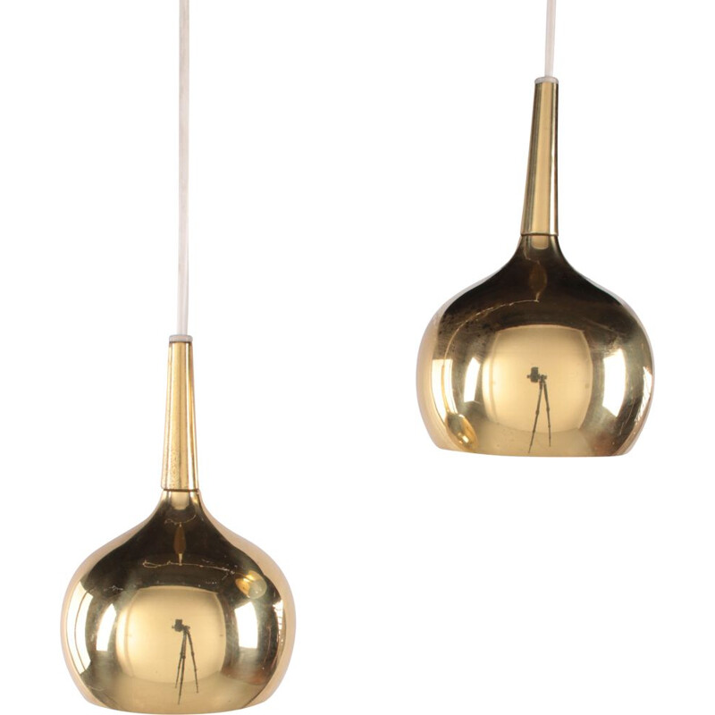 Pair of vintage pendant lamp by Hans-Agne Jakobsson for Markaryd AB, 1960s