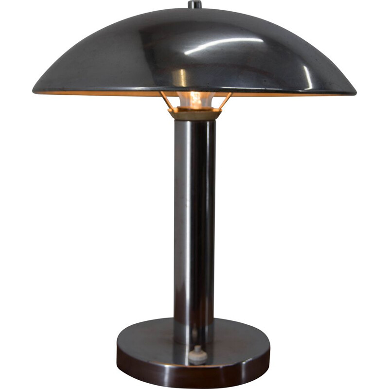 Chrome-Plated Table Lamp by Josef Hurka for Napako, 1940s