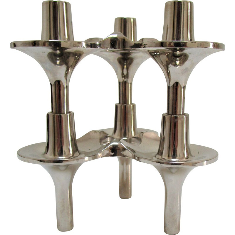 Pair of vintage Orion candlesticks by Fritz Nagel and Caesar Stoffi, 1960
