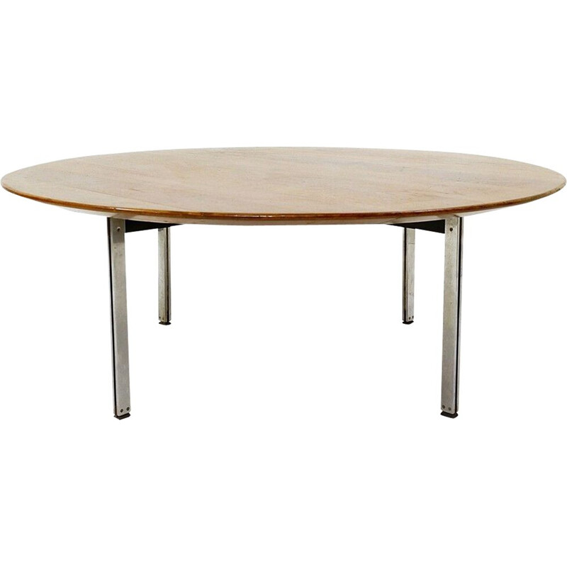 """""""Parallel Bar"""" vintage coffee table in walnut by Florence Knoll for Knoll"""